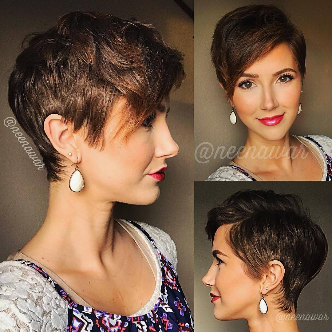 Short brown hairstyles and haircuts, current haircut for women Hair