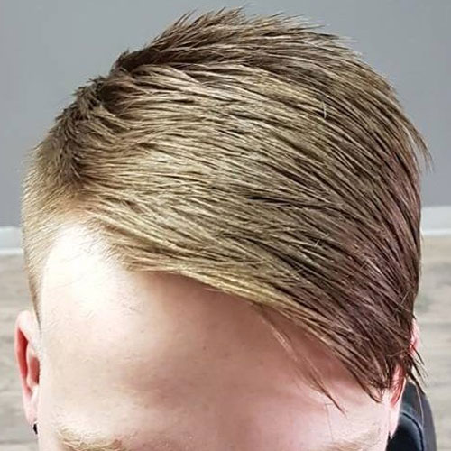 Taper Fade + Textured Comb Over
