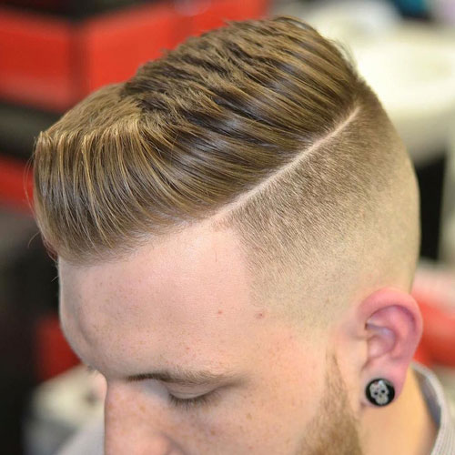 Cool Stylish Men's Haircut - Separate Undercut with Textured Spiky Hair