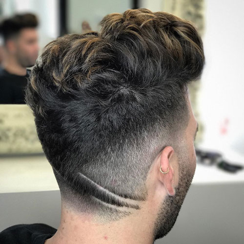 Cool men hairstyle with hair design