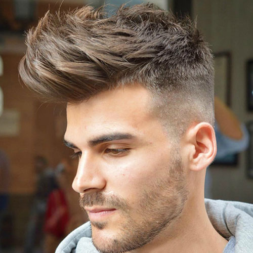 Beautiful haircuts for men - High skin rejuvenation fades with quiff
