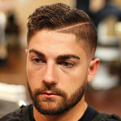 Good haircuts - High fade with hard part and comb