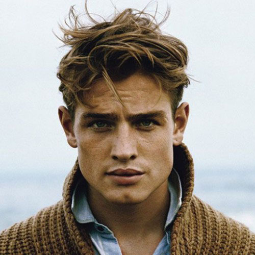 Good haircuts for men - Short sides with disheveled hair