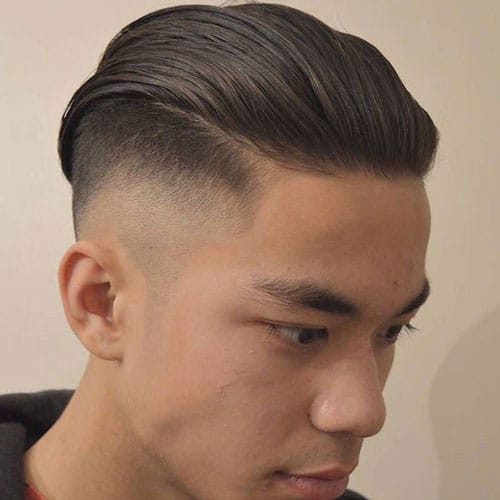 Undercut with long, smooth hind hair