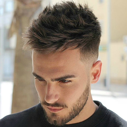 Low shrinkage with structured thick spikes and beard