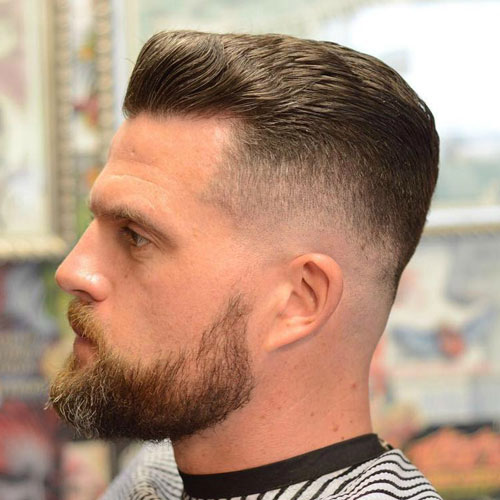 Smooth fade with textured slick back