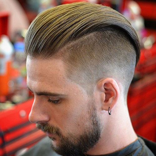 Long underlined hairstyle with low back