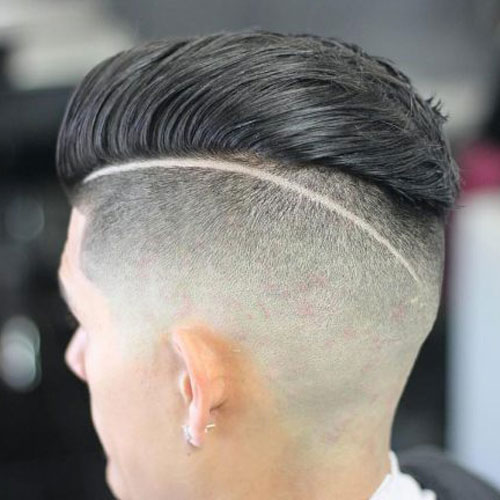 Smooth back hair with design