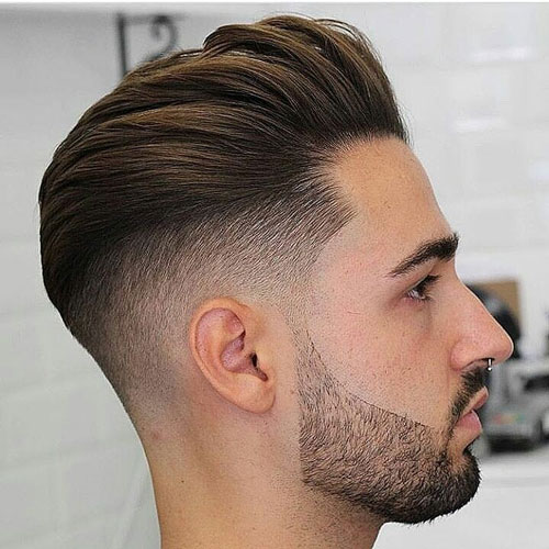 Thick textured hair with back undercut