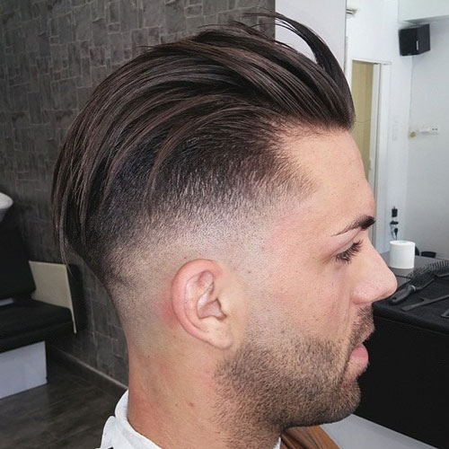 Cool back hair with undercut hairstyle