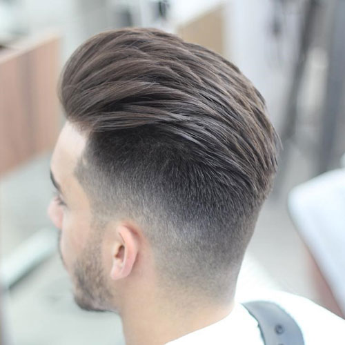 Bent-back hair with undercut hairstyle